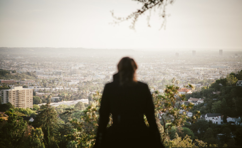 Overlooking Los Angeles